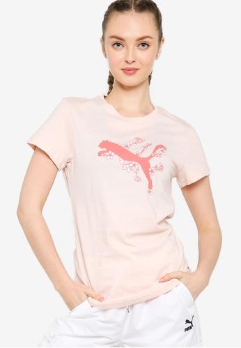 Puma pink Sakura Women's Tee B6AE2AA9AB8527GS_1