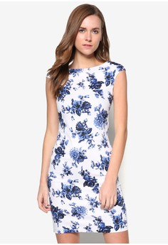 Collection Boat Neck Printed Dress