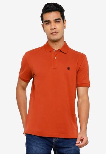 Springfield orange Essential Pique Polo Shirt 83E9DAA3DC3569GS_1