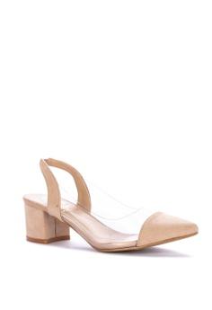 a96a26e98c88 Monica Sling-back PVC Heels Php 1