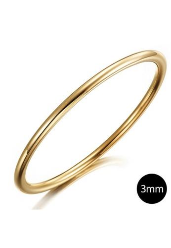 Bullion Gold 金色 BULLION GOLD Solid Golf Bangle 3mm Gold Layered - 65 mm 67A9DAC9E55DDAGS_1