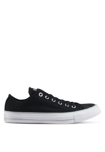 Converse black Chuck Taylor All Star Tipped Metallic Ox Sneakers 50DC7SHC67F6D0GS_1