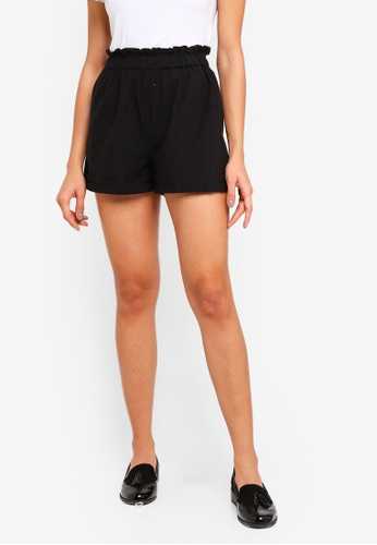 Cotton On black Maisy Paperbag Shorts 529BCAAF8F5BCEGS_1