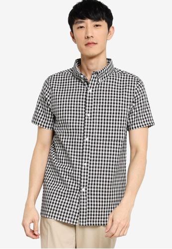 ZALORA BASICS multi Short Sleeve Checked Shirt D01D8AACD8304AGS_1