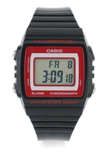 Casio black Unisex Digital Watches W-215H-1A2VDF CA347AC0V9HCID_1