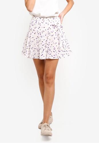 TOPSHOP white Pansy Flippy Mini Skirt F47CBAAEC6034BGS_1