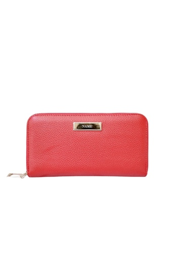 Vayne red Personalised Leather Long Zip Wallet Red 9FD1CAC92C7CA7GS_1