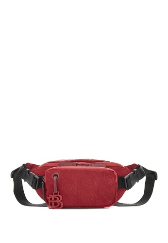 BONIA red Red Mantra Buckled Waist Pouch D55C3ACBF96DB1GS_1