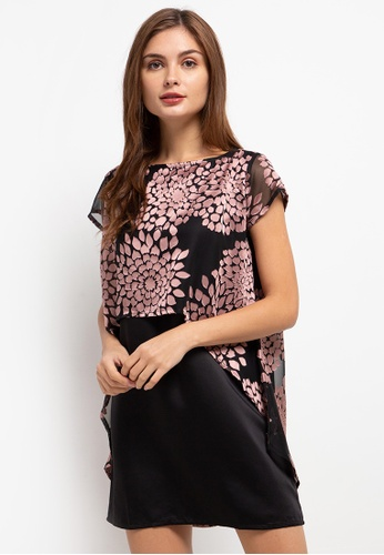 CHANIRA LA PAREZZA black and pink Chanira La Parezza Susan Dress 86A17AAE82B197GS_1