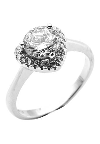 Elfi silver Elfi 925 Genuine Silver Engagement Wedding Ladies Ring P74 D6485AC60BEF7FGS_1