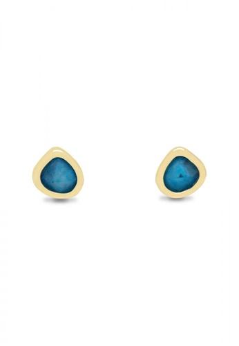 SKEDA blue Callie Irregular Circle Studs 4508EAC588AC8AGS_1