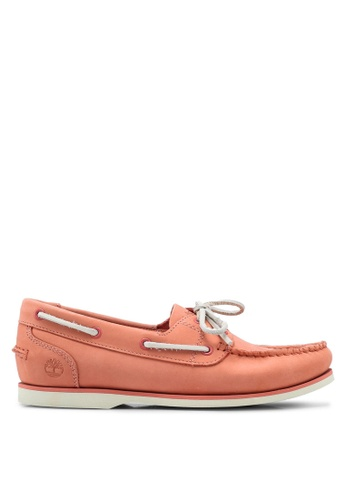 Timberland pink Classic Boat Unlined Boat Shoes BFC75SH29FF10BGS_1