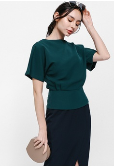 3887b4b0df7 30% OFF Love, Bonito Oliphe Side Button Flutter Sleeve Top RM 119.90 NOW RM  83.90 Sizes XS S