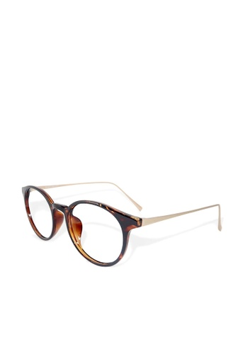 ASLLY multi and gold and brown Dream seeker│Anti-blue light glasses with TR90 amber rectangle frame 00DB0GL4F63D23GS_1