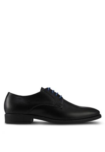 ACUTO black Leather Dress Shoes AC283SH0SL6XMY_1