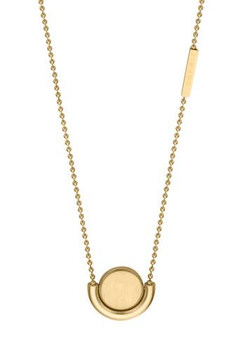 Esprit gold ESPRIT [Stella] Gold Stainless Steel Necklace (42 cm + 3 cm extension) BCC2AAC8C884ECGS_1