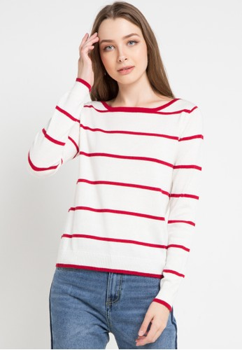 Peponi white Stripe Shoulder Blouse B5C48AAB7942A9GS_1