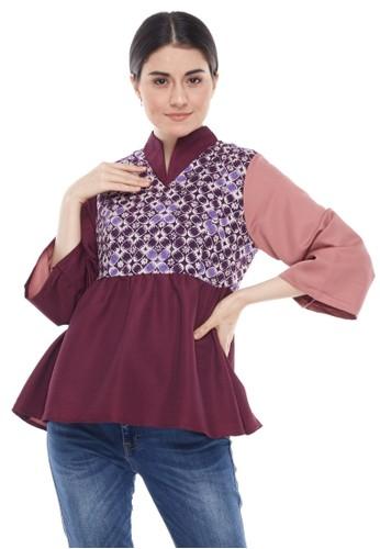 MADAME RABBIT purple Sakurasou Batik Blouse 3E258AA29CFBA3GS_1