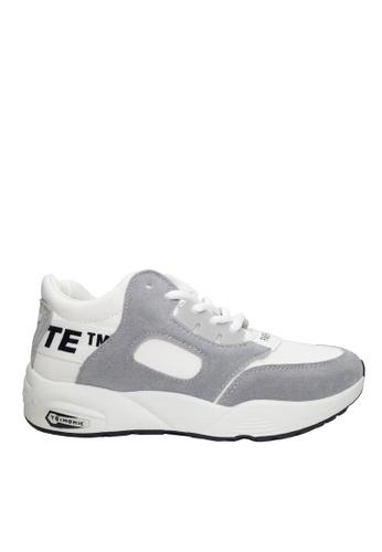 Twenty Eight Shoes white Printed Ribbon Dual Texture Sneakers VC515 6649ESHE0B4C0AGS_1