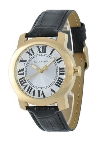 EGLANTINE gold EGLANTINE® Emile Unisex Gold Plated Steel Quartz Watch on Black Leather Strap BFC5EAC5DFA07EGS_1