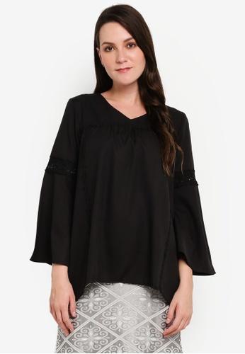 BYN black Lace Long Sleeve Top 09489AAFA6B33DGS_1