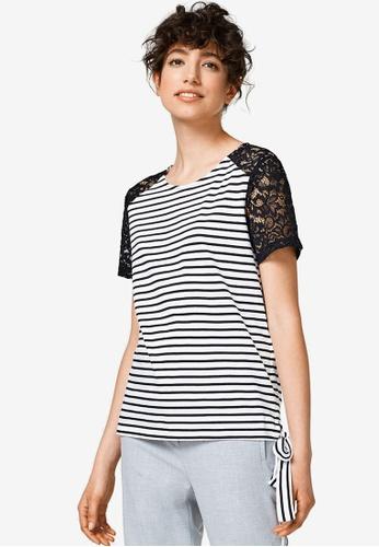 ESPRIT white Short Sleeve T-Shirt 0469BAAD5F20D4GS_1