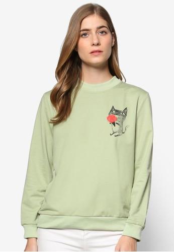 Pink Evil × Darren 聯名圖案設計長袖衫, 服飾, esprit outlet 桃園外套