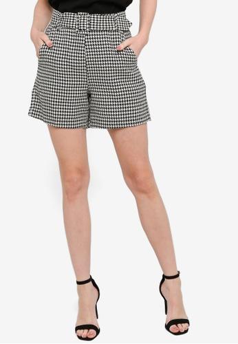 ZALORA WORK multi Belted Shorts 11F0DAA6C51228GS_1