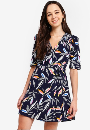 891319b46fe1 Buy Something Borrowed Mid Sleeves Wrap Button Dress Online on ZALORA  Singapore