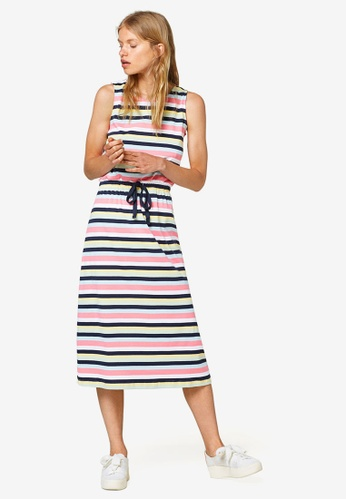 ESPRIT pink and multi and navy Long Knitted Dress 179DAAA8F8BB64GS_1