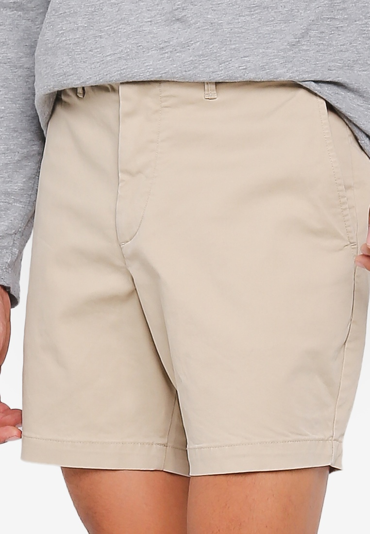 Khaki GAP Shorts Casual Stretch 7in Iconic zXAFqOWxWw