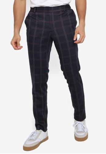 Only & Sons blue Elias Check Pants 9A0D5AABCB6A11GS_1