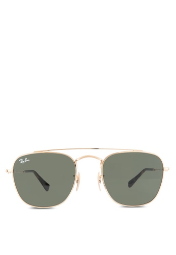 Ray-Ban gold RB3557 Sunglasses RA896GL67HIAMY_1