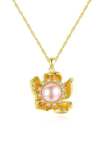 A.Excellence purple Premium Purple Pearl Elegant Necklace F32D1AC4661C09GS_1