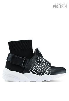House of Avenues black Janina X Hoa Hi-Top Sock Sneakers ABC55SH5400FCDGS 1 620fc23d3