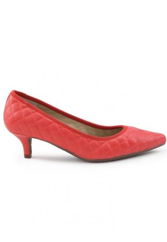 Shu Talk orange Nappa Pointed Toe Low Heels SH617SH2UXHGHK_1