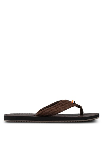 Superdry brown Superdry Cove Sandal B0A3DSHE630B1EGS_1