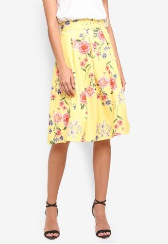 Miss Selfridge yellow Yellow Floral Print Skirt D6AA5AAC713479GS_1