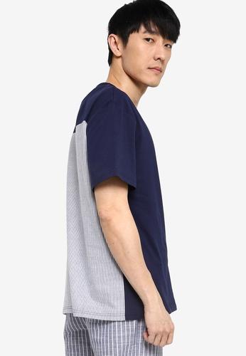 ZALORA BASICS multi Blocked Seersucker T-Shirt 31B71AA2046809GS_1