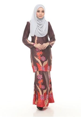 Kurung Modern Iwani (Brown) from Nur Shila in Brown