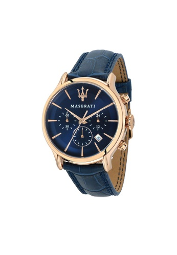 Maserati blue Maserati Epoca Blue Leather Watches Quartz Chronograph R8871618007 09380AC3EBBF4EGS_1