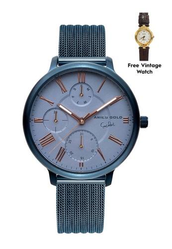 Aries Gold blue Aries Gold Voyage L 5034 Blue Watch CE44EAC2E971E1GS_1