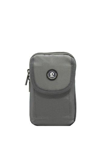 OPTIONS grey Leo Single Zip Phone Pouch C6A16AC0A3DC59GS_1