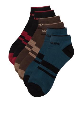 三入色塊棉質襪子, 服飾, 男性服esprit台灣網頁飾