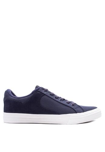 Sonnix navy Trooper  Q217 Lace Up Sneaker Shoes SO490SH04WBBPH_1