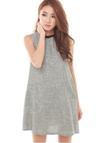 Sophialuv grey Bryne Trapeze Dress in Grey 914C1AA1E4AD5DGS_1
