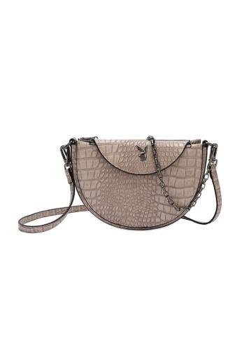 PLAYBOY BUNNY brown Playboy Bunny Chain Handle Sling Bag 7207DACBCFCC51GS_1
