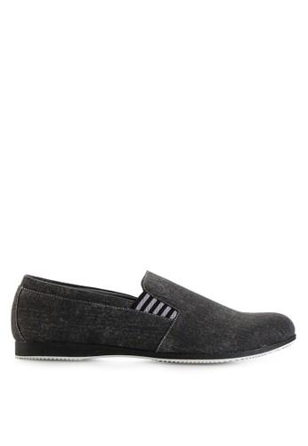 Dr. Kevin black Loafers, Moccasins & Boat Shoes Shoes 13187 Hitam Denim DR982SH24MHFID_1