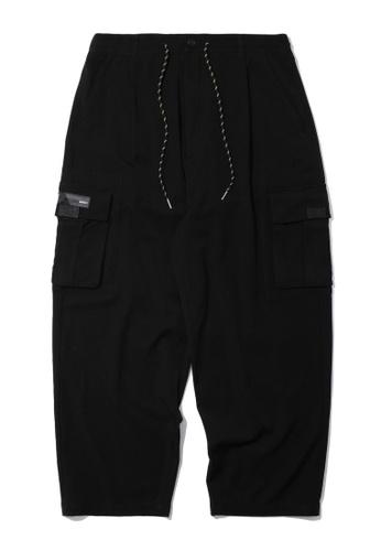 Fivecm black Drawstring cargo pants CA527AACE816E3GS_1
