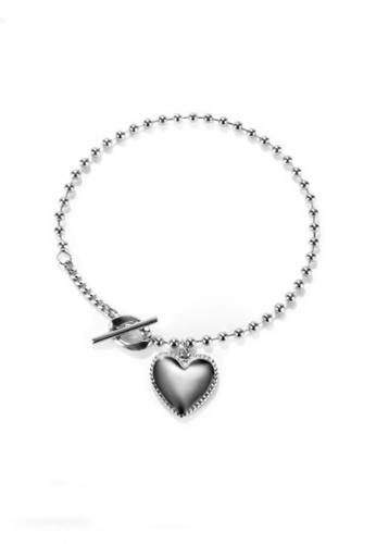 CELOVIS silver CELOVIS - Hana Heart Pendant Bead Chain Toggle Bracelet in Silver 7DB29AC78F5EBFGS_1